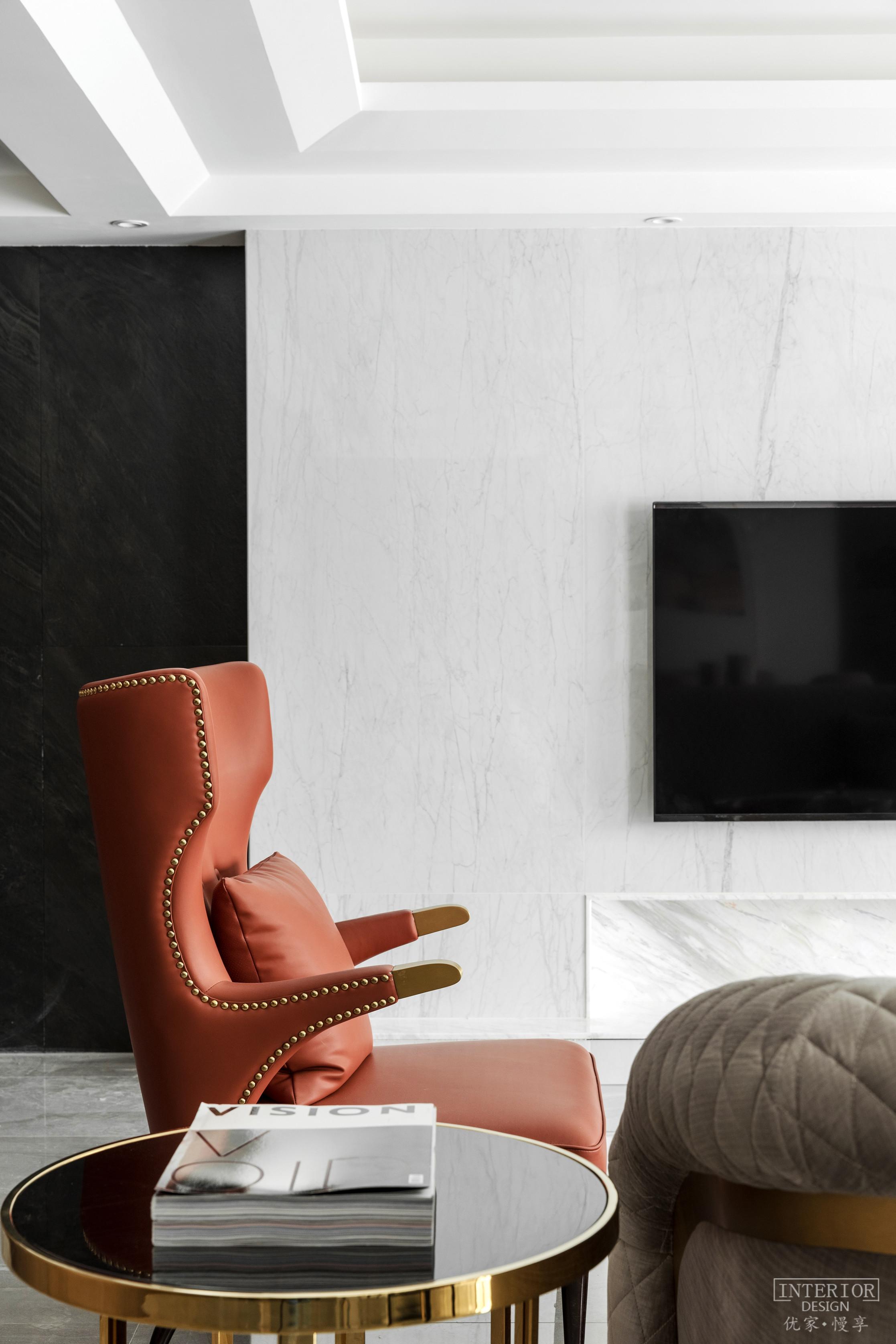 优雅42平现代复式客厅装修美图客厅