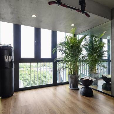 建面32平现代小户型阳台设计