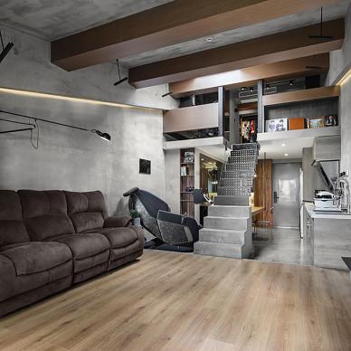 建面32平现代小户型客厅设计图