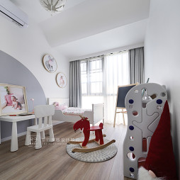 """""""圣诞味""""的家现代儿童房设计"""