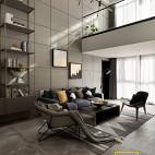 loft复式客厅吊灯图片