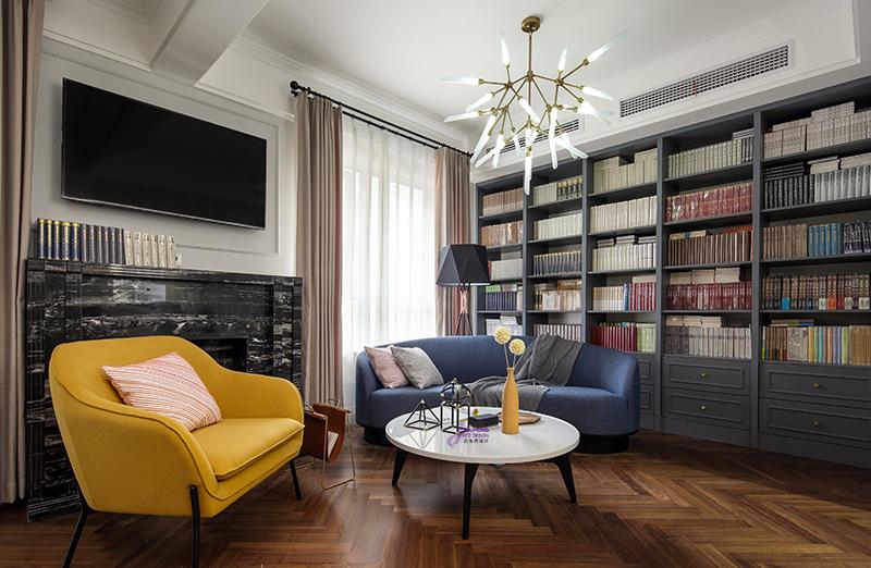 悠雅180平美式复式客厅案例图客厅美式经典客厅设计图片赏析