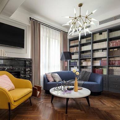 简美复式客厅设计图片