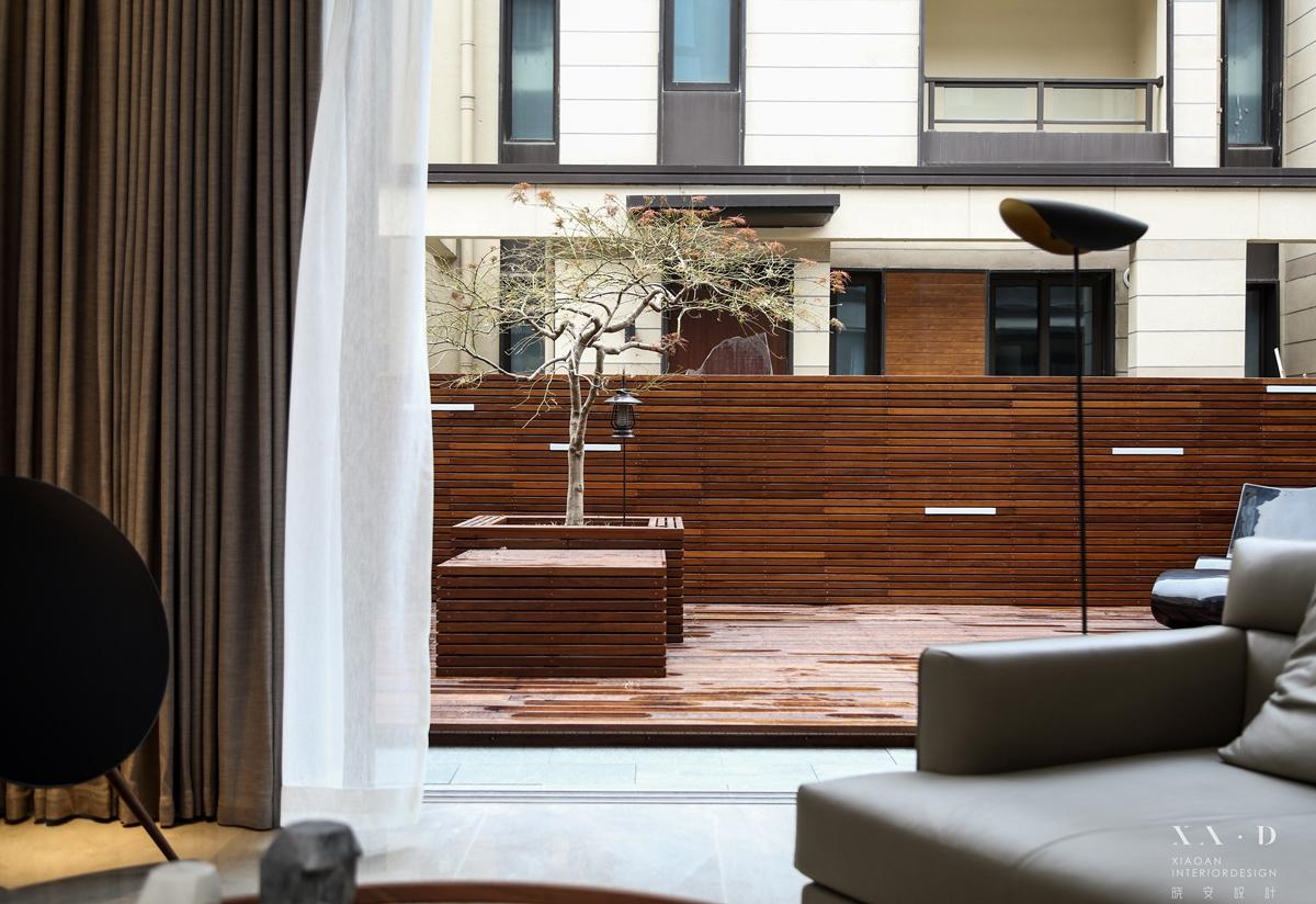 浪漫61平现代复式花园装饰图片客厅现代简约客厅设计图片赏析