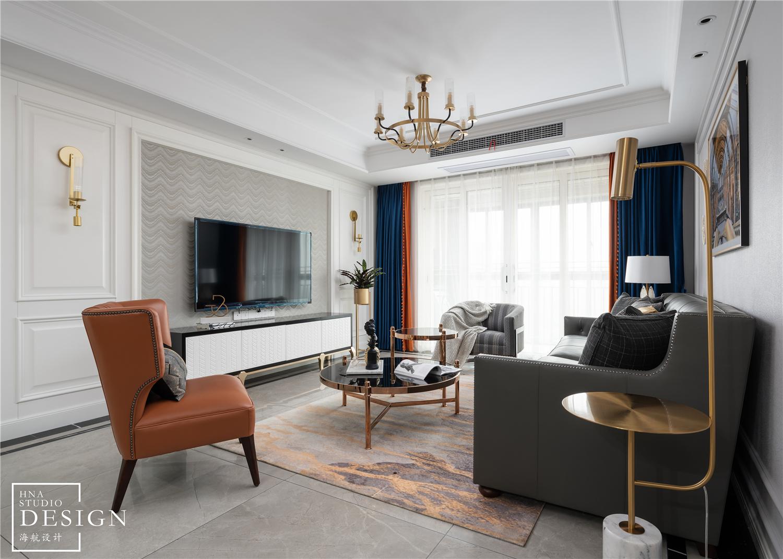 用设计拉近家的距离,现代美式如此甜蜜优雅客厅美式经典客厅设计图片赏析