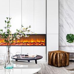 简约时尚客厅壁炉设计图