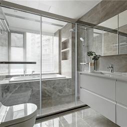 简致现代卫浴设计实景图