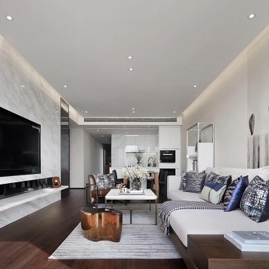 低调现代复式客厅沙发图