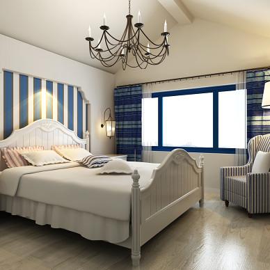 蓝色经典—吉林市地中海阁楼样板间设计_3532345