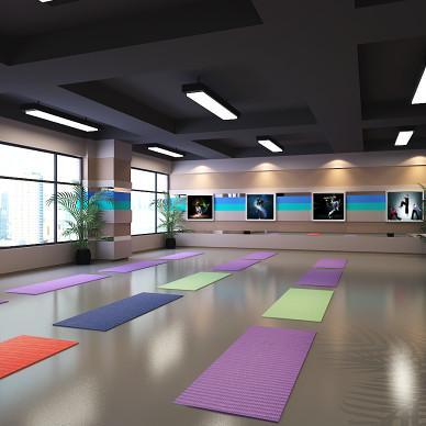 民生银行办公健身中心室内设计_3532369