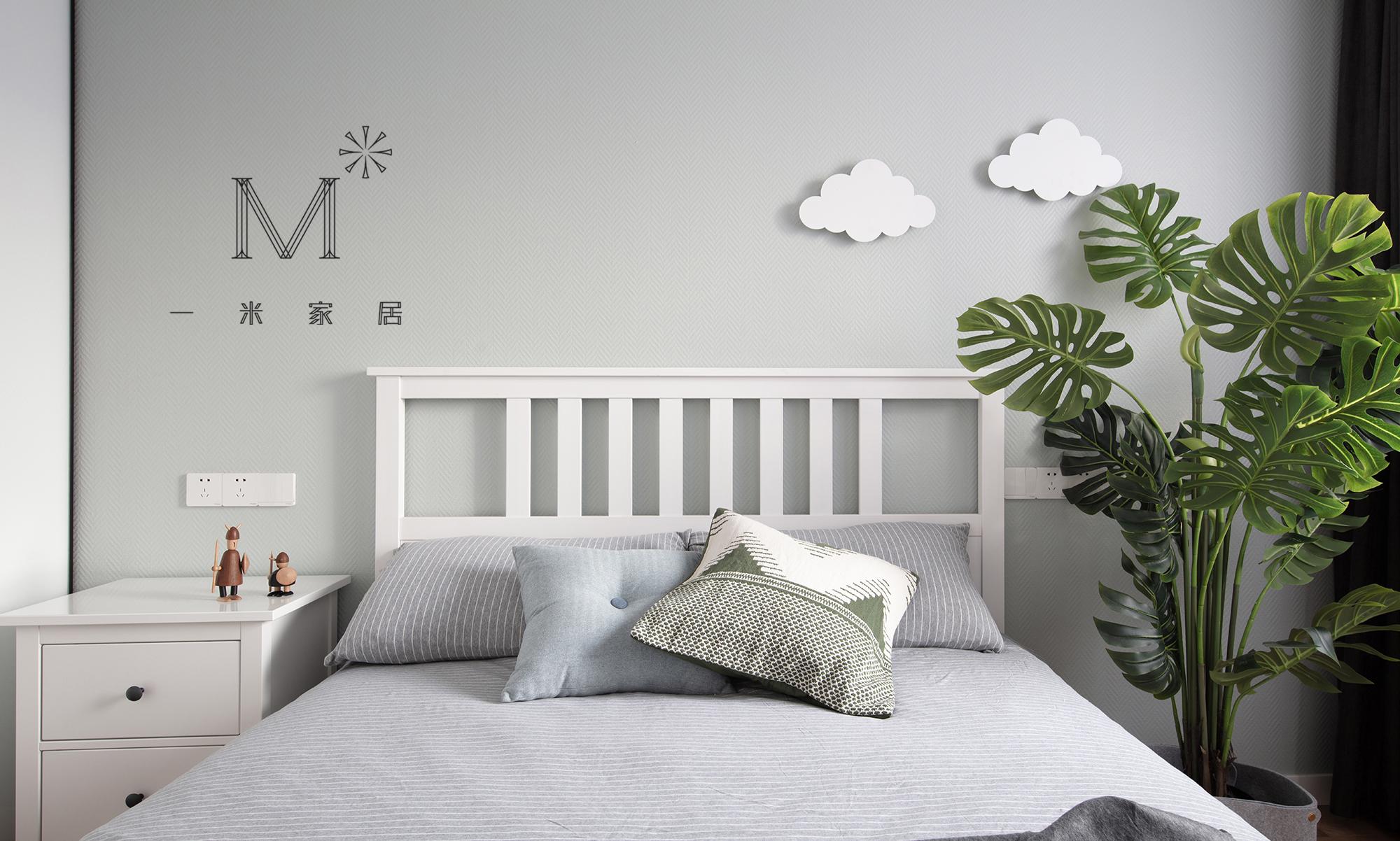 华丽97平宜家三居装饰图片卧室现代简约卧室设计图片赏析