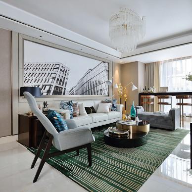 现代轻奢样板房客厅设计图片