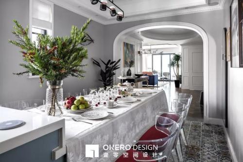 质朴127平混搭三居餐厅设计效果图厨房洗漱台