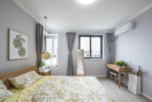 精致51平北欧二居卧室装修效果图卧室窗帘
