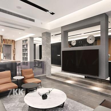 格致簡約客廳背景墻設計圖