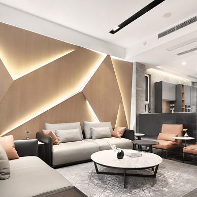 格致簡約客廳背景設計圖