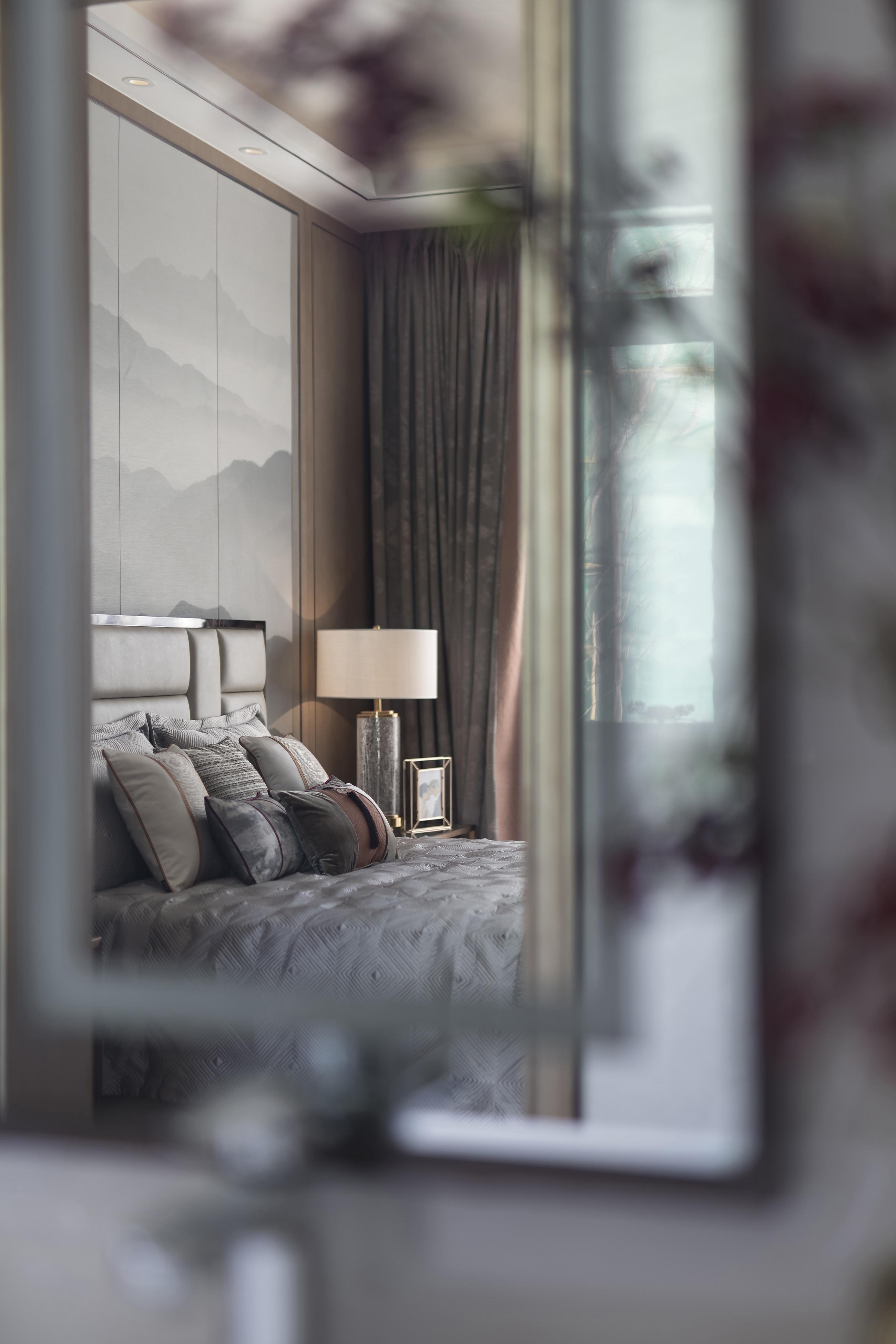 浪漫319平中式别墅卧室案例图卧室床2图中式现代卧室设计图片赏析