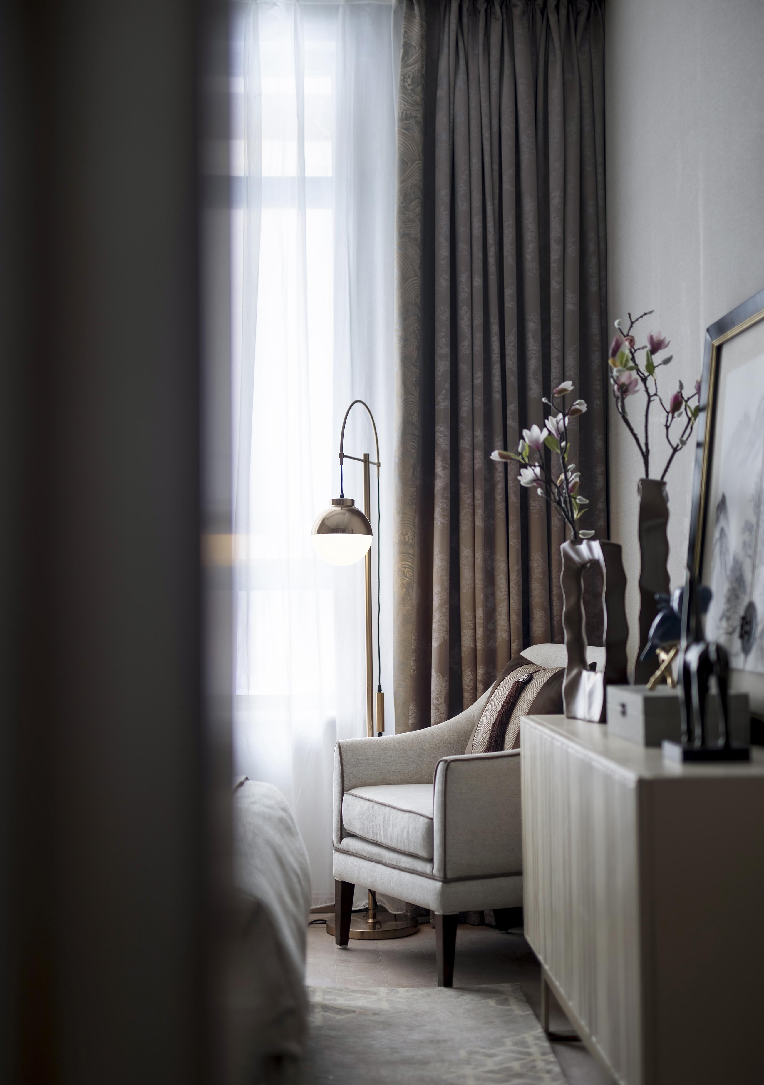 悠雅290平中式别墅卧室设计效果图客厅中式现代客厅设计图片赏析