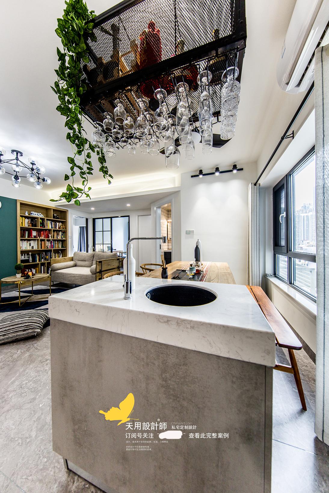 轻奢119平北欧四居餐厅装修图厨房橱柜北欧极简餐厅设计图片赏析