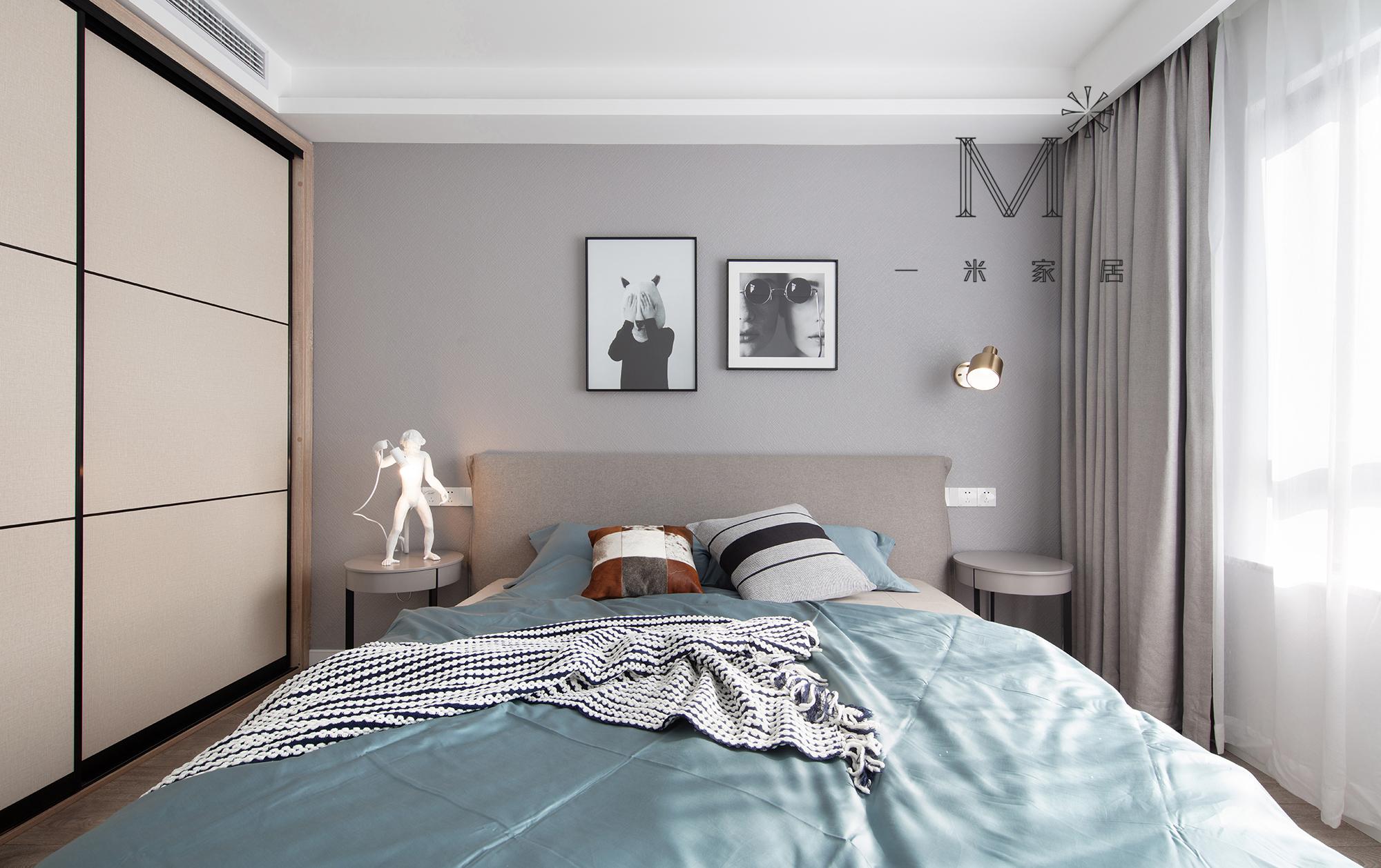 105㎡现代北欧主卧设计图卧室现代简约卧室设计图片赏析