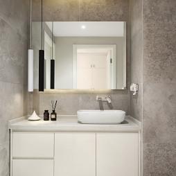 高规格现代卫浴洗手台设计图
