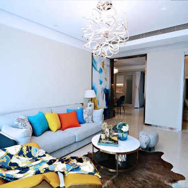 【青白设计】现代简约风格,空间通透,舒适美观。_3538222