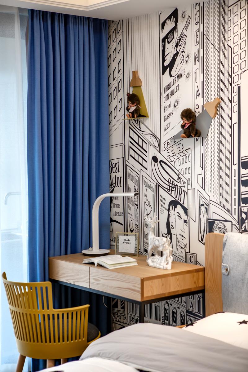简致北欧三居儿童房书桌设计卧室北欧极简卧室设计图片赏析