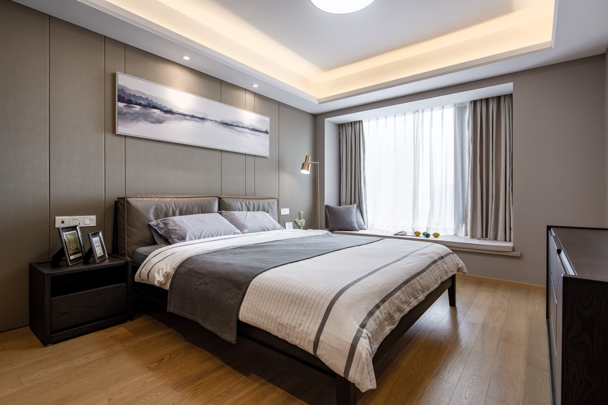 简致北欧三居主卧室设计图卧室北欧极简卧室设计图片赏析