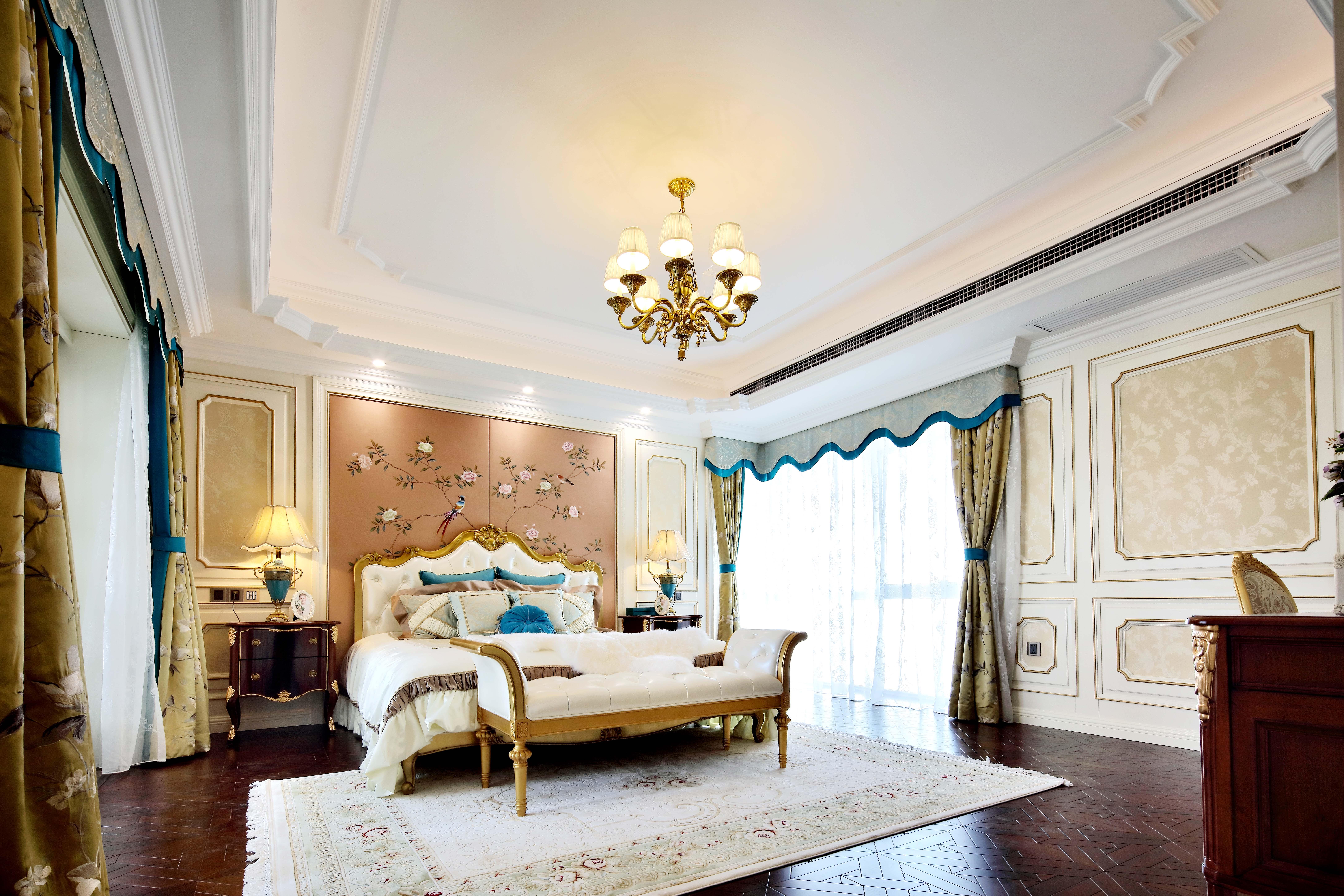 温馨150平混搭四居卧室装潢图卧室