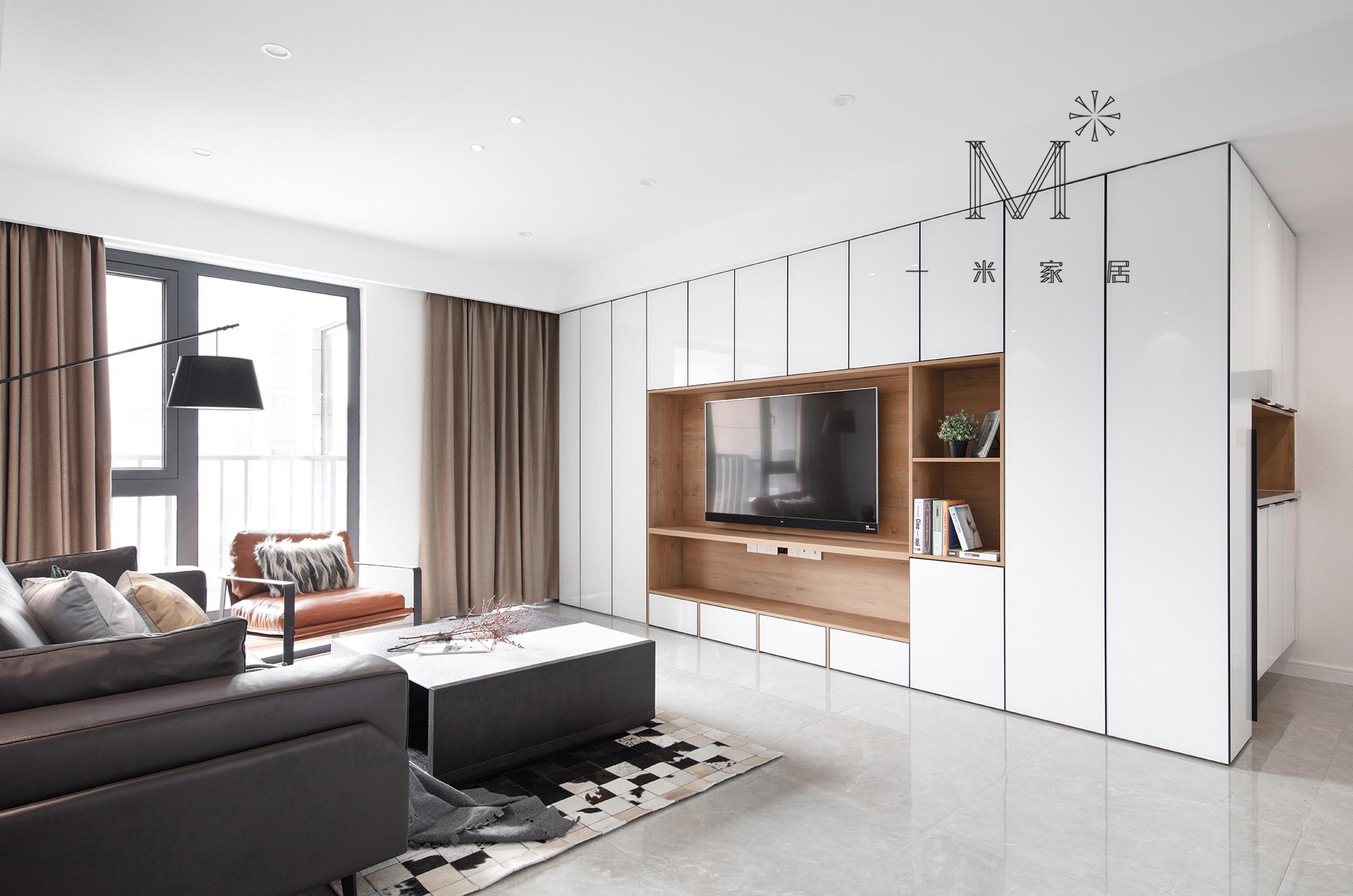 140㎡现代二居背景墙设计客厅现代简约客厅设计图片赏析