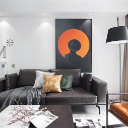 140㎡现代二居客厅沙发图