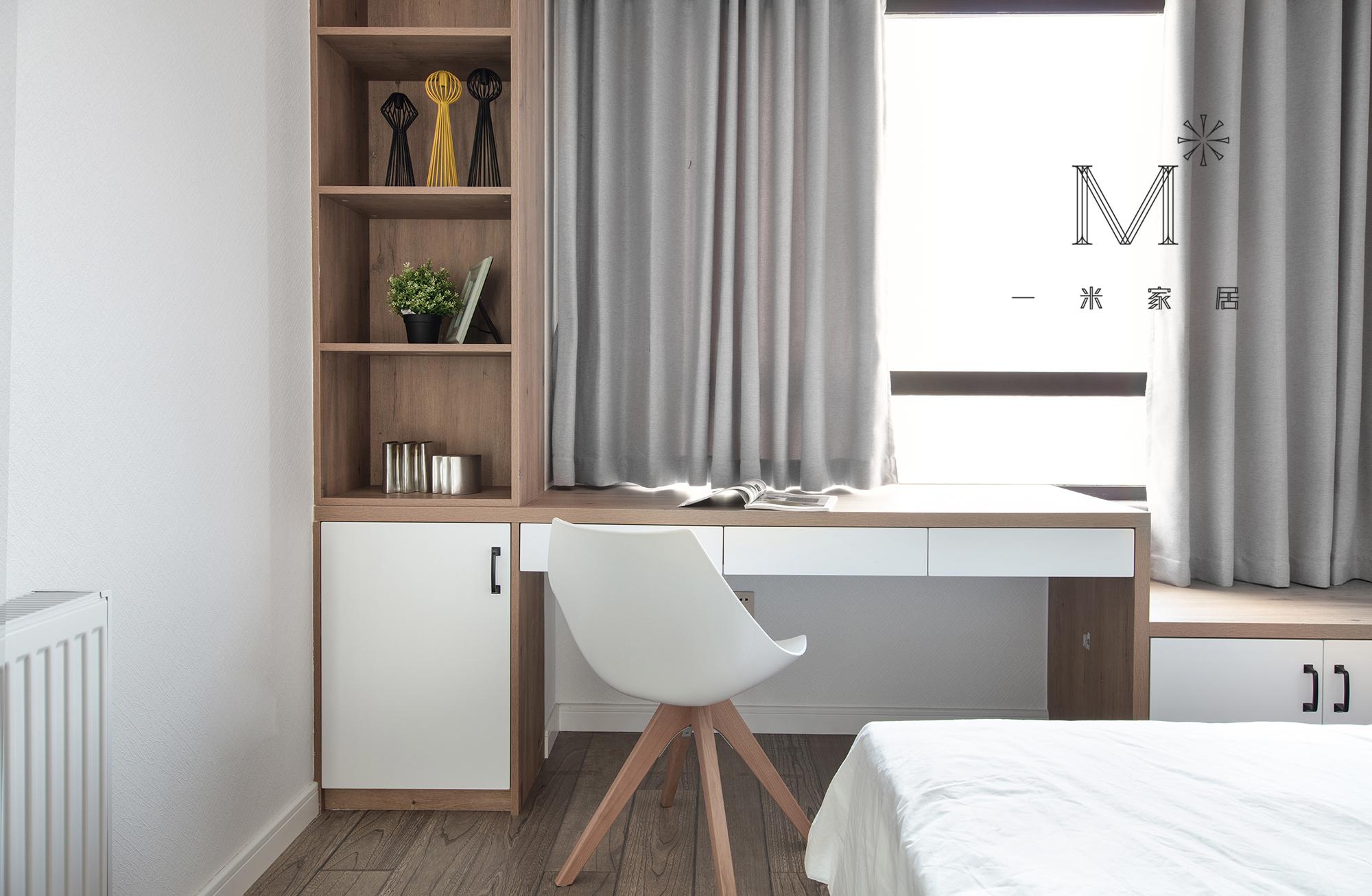 140㎡现代二居书桌设计功能区现代简约功能区设计图片赏析