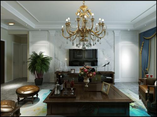 质朴83平美式三居客厅装修设计图客厅电视背景墙