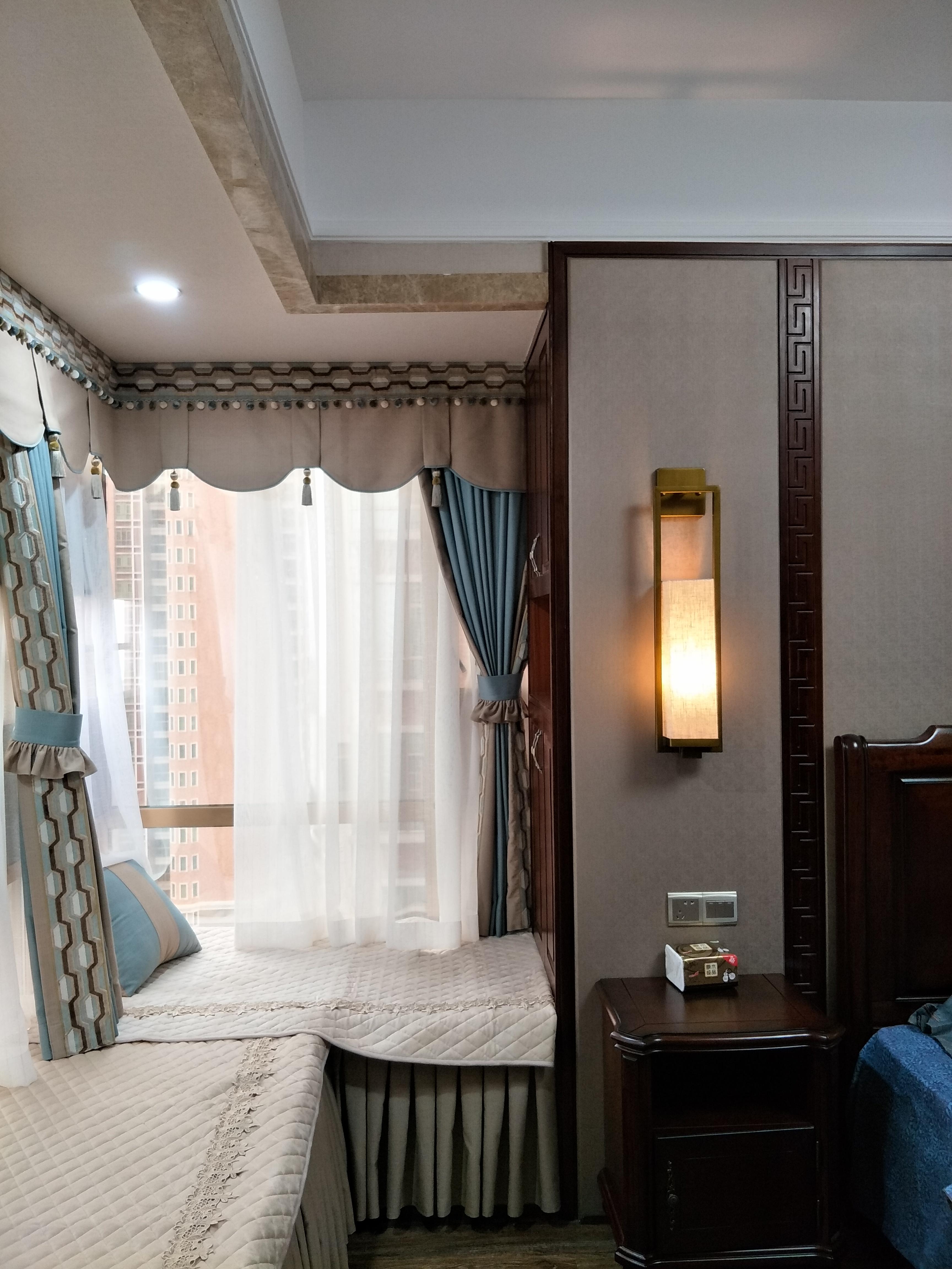 简洁125平中式三居卧室设计图卧室中式现代卧室设计图片赏析