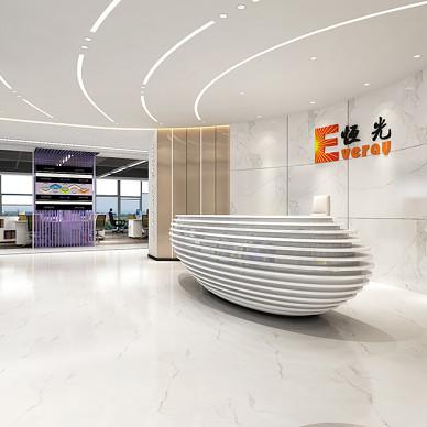 恒光集团公司办公室装修设计_3544300