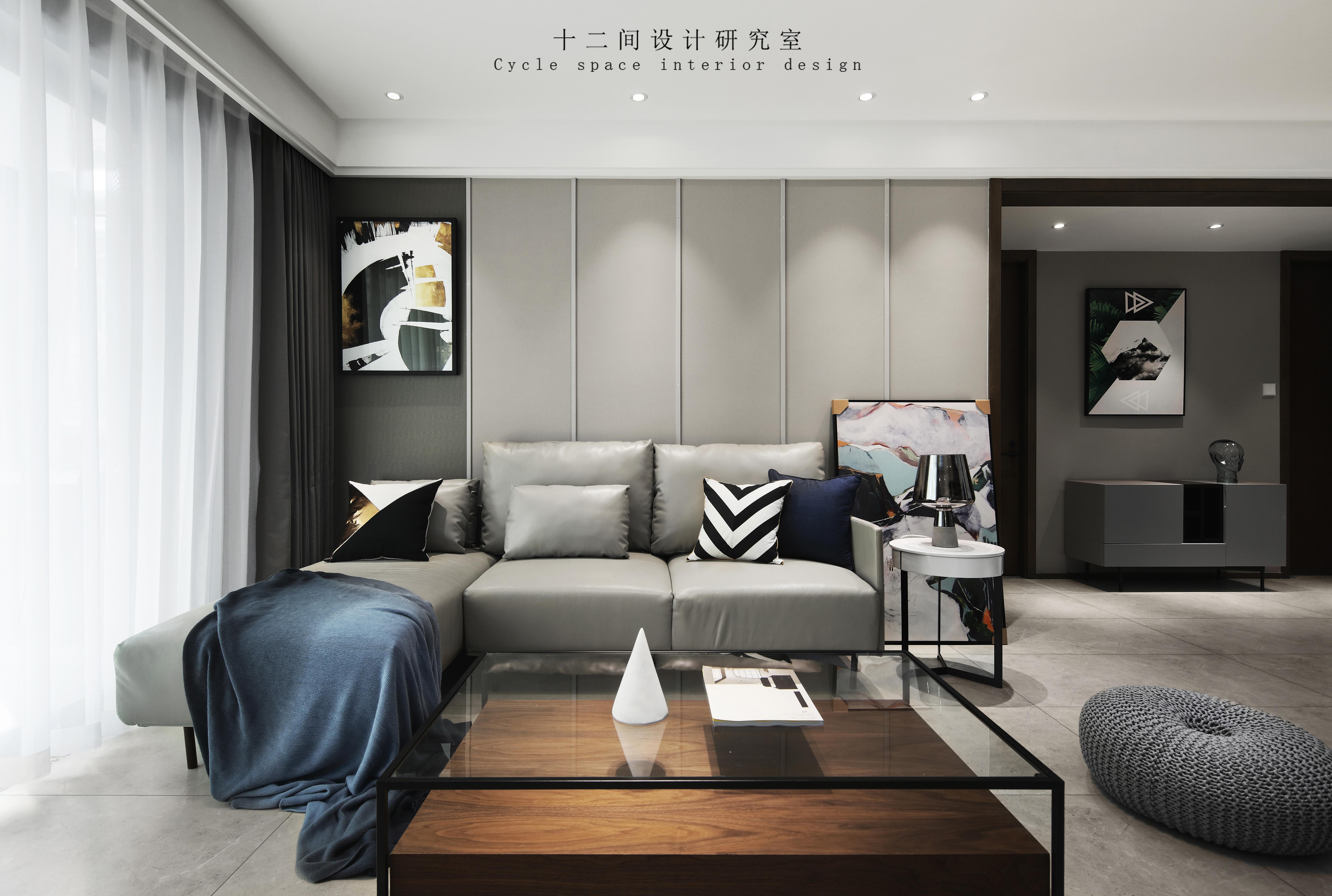 精致86平现代三居卧室装修图客厅