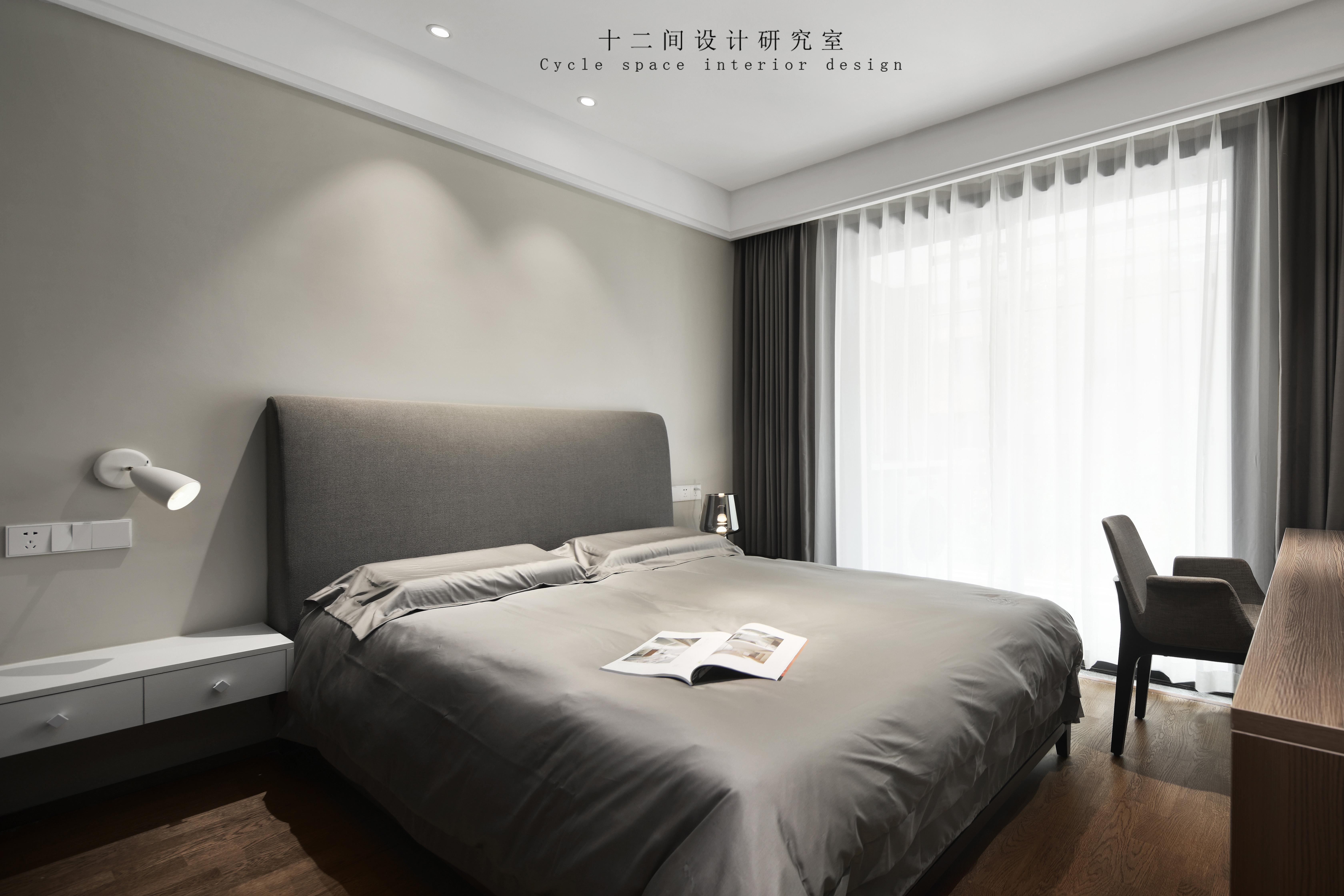 优美88平现代三居卧室设计美图卧室现代简约卧室设计图片赏析