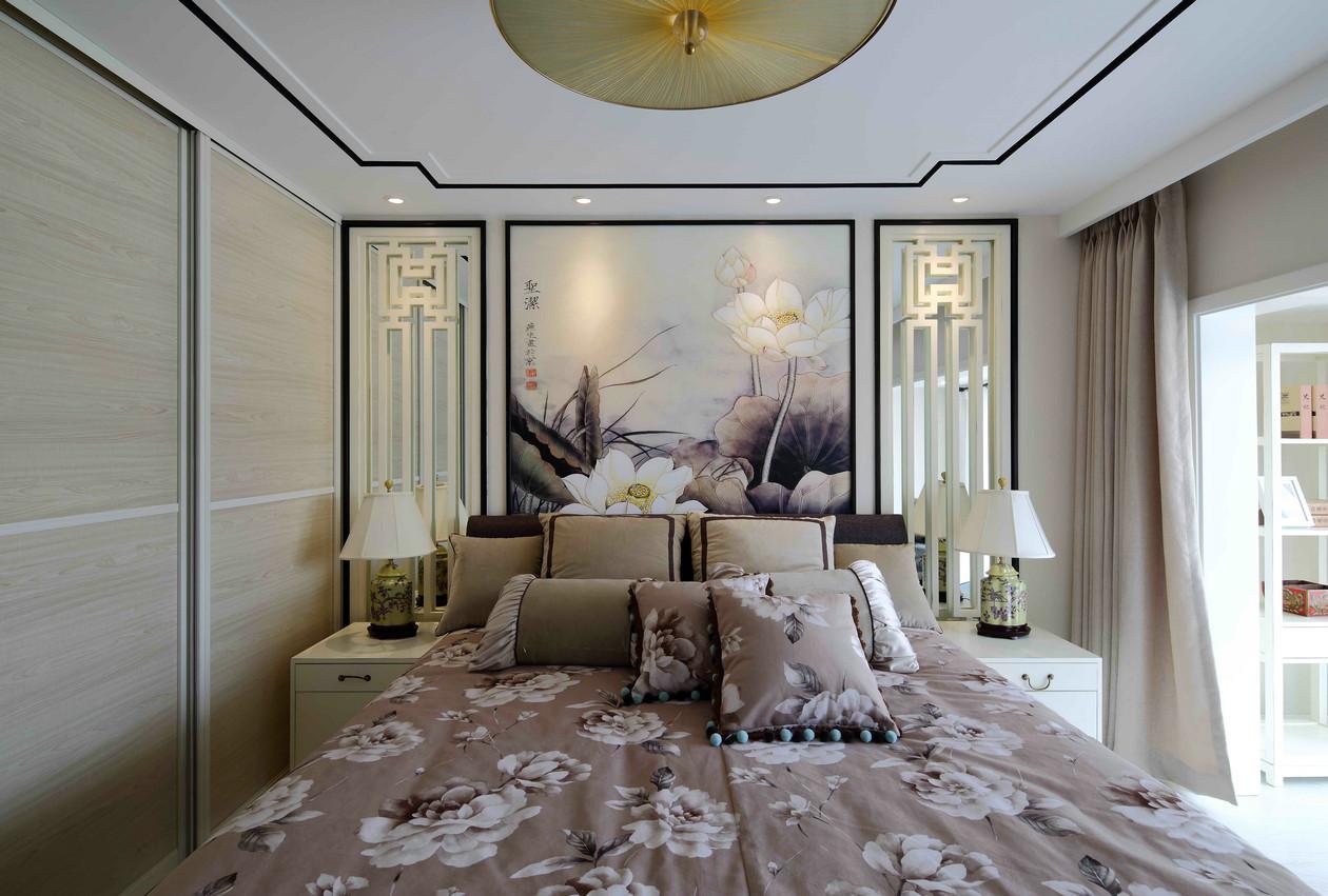 质朴41平中式复式卧室效果图卧室