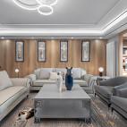 古朴中式客厅沙发实景图