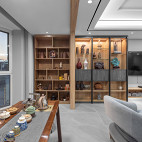 古朴中式客厅储物柜设计