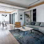 现代客厅沙发实景图