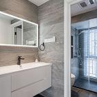 现代卫浴洗手台设计实景图