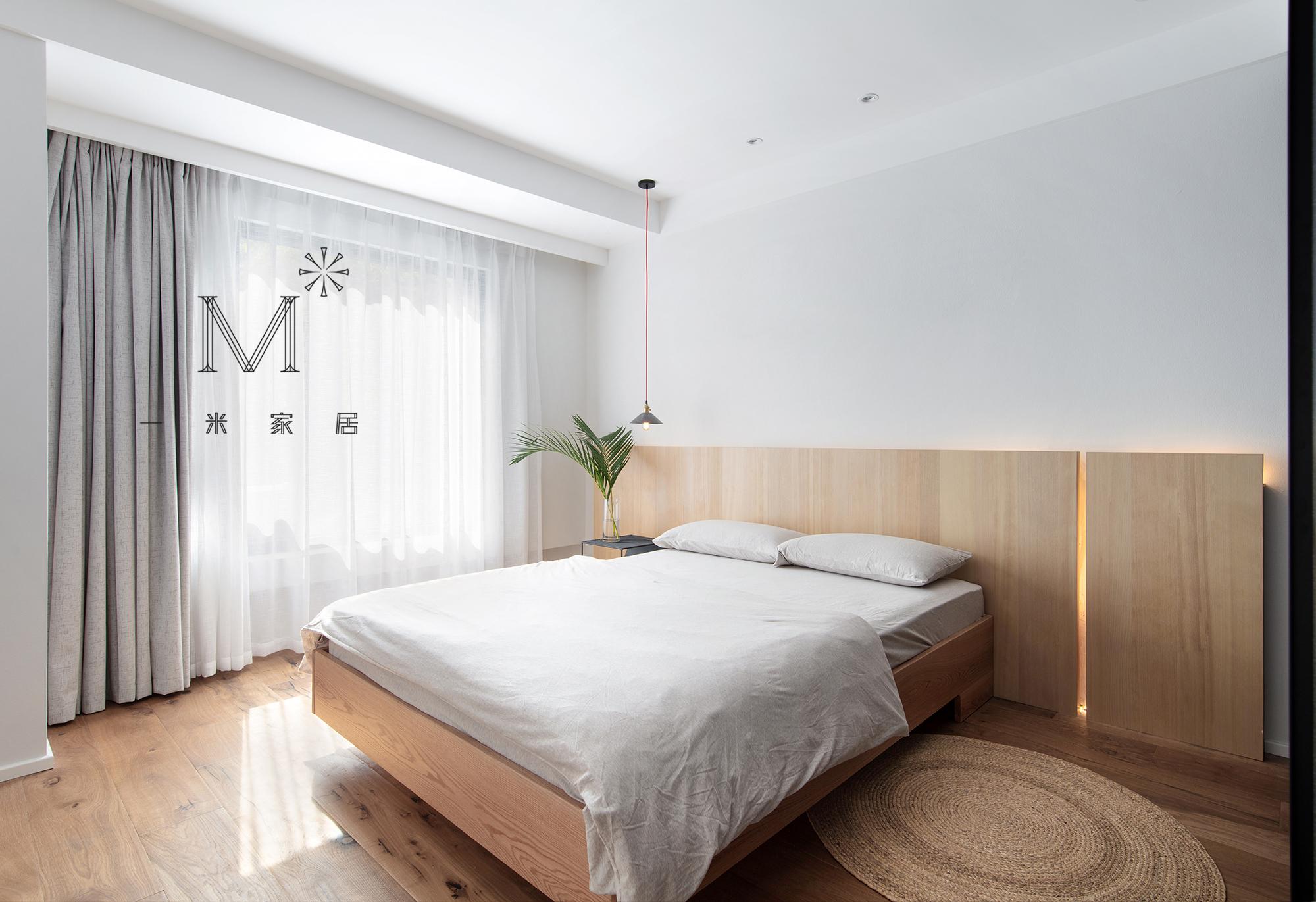 优雅129平现代二居布置图卧室现代简约卧室设计图片赏析