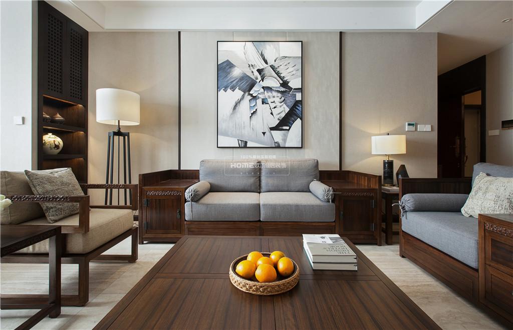 中式四居客厅装饰画设计客厅中式现代客厅设计图片赏析