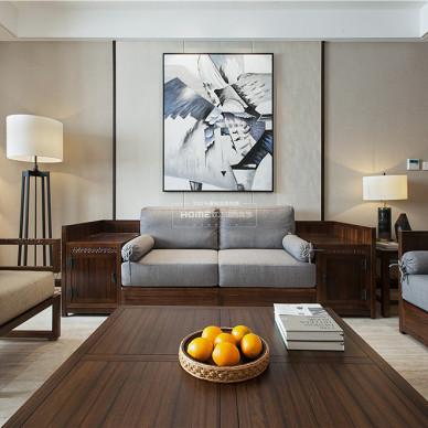 中式四居客厅装饰画设计