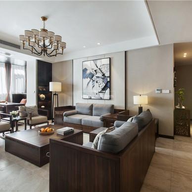 中式四居客厅实景图