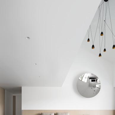 现代复式客厅设计图片
