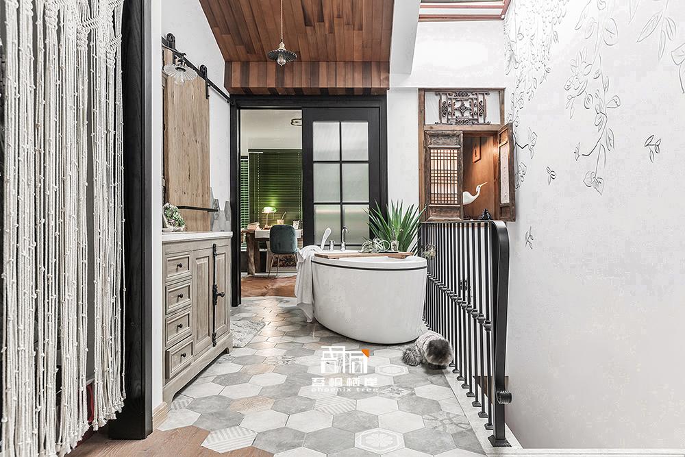 四木居别墅混搭风卫浴设计潮流混搭设计图片赏析