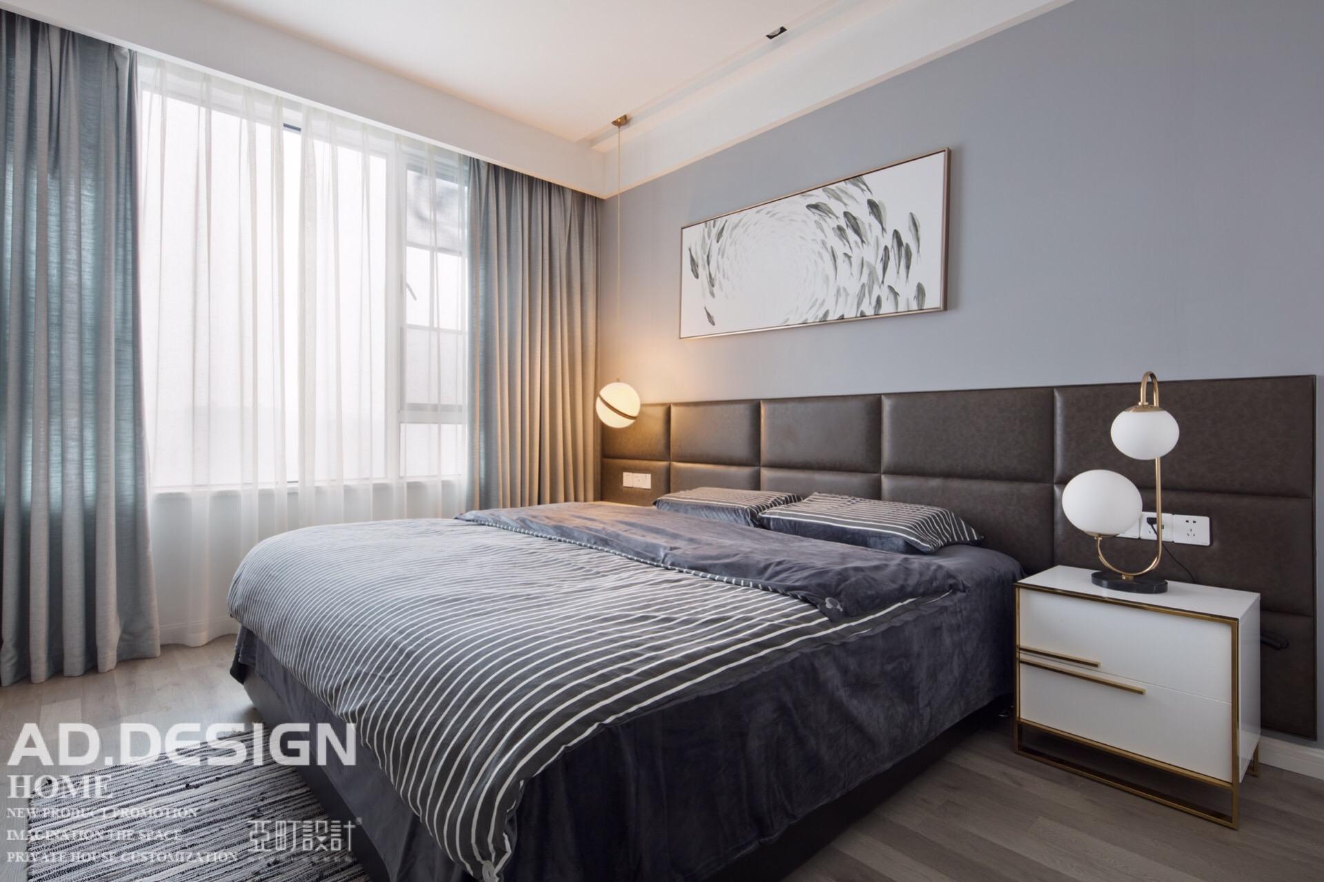 典雅125平现代三居卧室装潢图卧室现代简约卧室设计图片赏析