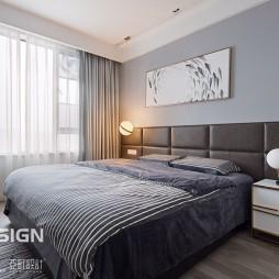 自然現代風臥室設計圖